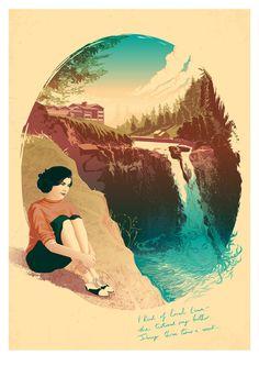 Twin Peaks: Audrey Horne / A3 Art Print by PeteLloydArt on Etsy