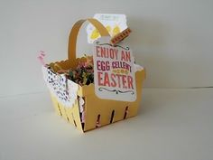 """Stampin' Up! For Peeps' Sake tags and """"sign"""" with Berry Basket for Easter.  February 2015 Stamp Camp,  http://stampinsueduffy.stampinup.net"""