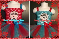Dr Seuss, Thing 1 Thing 2 Inspired Tutu Dress, Cat in the Hat tutu dress by RosysBoutiqueShop on Etsy https://www.etsy.com/listing/208496528/dr-seuss-thing-1-thing-2-inspired-tutu