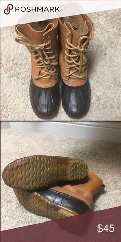 Cabelas Men's steel shank boots Men's leather steel shank work boot.  Price/shipping are firm.  Hardly worn. Cabelas Shoes Boots