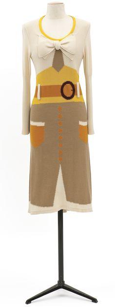 Robe de jour, Collection prêt-à-porter printemps-été 2008  Maison Sonia Rykiel  Intarsia knitting
