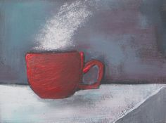 Coffee still life painting original acrylic painting by VESNAsART