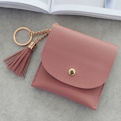 99a82099f15c1 New Coin Holder Purses Women Wallets Pu Leather Small Tassel Fashion Girls  Ladies Card holder Key Money Bags Case Pouch