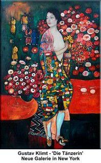 Die Tänzerin (The Dancer) by Gustav Klimt, 1916-18.