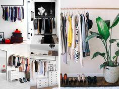 Un vestidor original y baratito. Ideas decoración #dormitorios