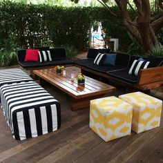 we like to mix stripes and patterns #eventdecor