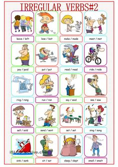 Irregular Verbs Picture Dictionary#2