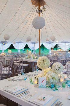 cute tent wedding