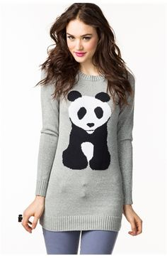 Panda Tunic Sweater