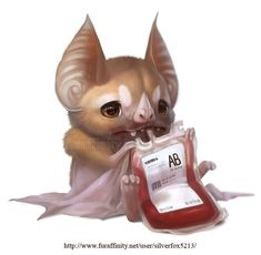 Blood bat by Silverfox5213.deviantart.com on @deviantART