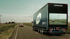 (Credit: Samsung) A see-through truck for safety.
