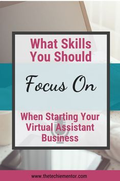 When starting your Virtual Assistant Business don't worry about learning the top virtual assistant skills, focus on the skills you already know. Listen in to my podcast episode where I share tips on what I think you should focus on instead if you're still trying to launch your VA business. | virtual assistant skills | skills for virtual assistants | virtual assistant free training | virtual assistant podcast | Virtual Assistant Services, Skills To Learn, Free Training, Up And Running, What You Can Do, Starting A Business, Don't Worry, Finding Yourself, Social Media
