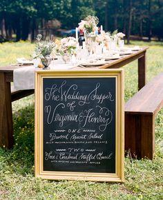 chalkboard menu | Stephen DeVries #wedding