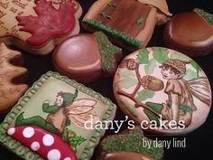 Autumn Fairies    By Dany's Cakes  https://www.facebook.com/pages/Danys-Cakes/108399109182699