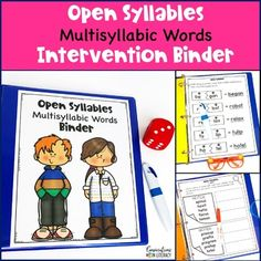 This Open Syllable Multisyllabic Words Binder is perfect for Reading Interventions and can be used for Digital Activities too! This resource is strategic & effective, saving you time not having to look for different activities. Each section in this binder is carefully chosen and scaffolded to me...