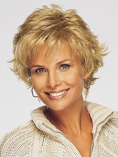 Casual Style Side Bang Fluffy Tilt Curly Heat-Resistant Vogue Blonde Short Haircut Wig For Women