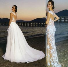 10 Stunning Dresses for Non-Traditional Brides 2 In 1 Wedding Dress, Detachable Wedding Dress, Dream Wedding Dresses, Wedding Gowns, Lace Wedding, Wedding Dress Removable Skirt, Convertible Wedding Dresses, Princess Wedding, Dream Dress