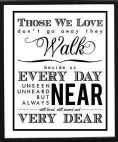 Those we love quote via www.Facebook.com/PositivityToolbox
