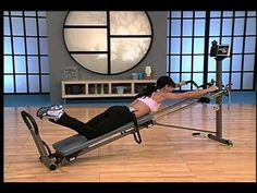 Total Gym Workout with Rosalie Brown - Shane Carlson Fitness Total Gym Workouts, Beginner Workout At Home, Gym Workouts Women, Lower Ab Workouts, Abs Workout For Women, Beginner Workouts, Woman Workout, Yoga Workouts, Cardio