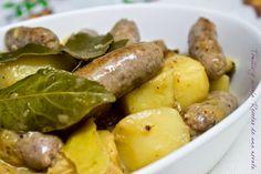 Tomillo y canela. Recetas de una novata: Salchichas con patatas y limón
