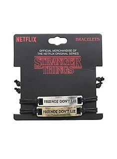 Stranger Things Friends Don't Lie Best Friend Cord Bracelet Set,