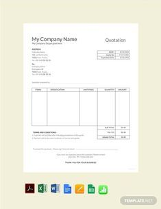 FREE Sample Quotation Template - PDF | Word (DOC) | Excel | Apple (MAC) Pages | Apple Numbers | Template.net Microsoft Word Invoice Template, Invoice Format In Excel, Dashboard Template, Microsoft Excel, Microsoft Office, Sales Quotation, Quotation Sample, Quotation Format, Newspaper Template Word