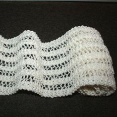 Wonderful One Row Lace Scarf Reversible and adaptable for all yarn weights.