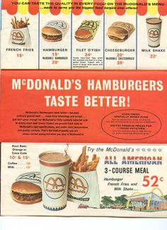 McDonald's 1965 Capital Beltway Map i remember those days it was a treat now we don't eat there anymore