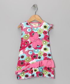 Take a look at this Pink Blossom Butterfly Dress - Toddler & Girls by Cheeky Smyle on #zulily today!