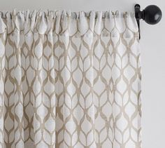 Sheers for second layer of drapes Skye Printed Sheer Drape   Pottery Barn