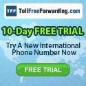 TollFreeForwarding.com provides International Phone Numbers to businesses that want to attract more international customers, and better serve existing ones. We offer Toll Free and Local Phone Numbers in over 100+ countries and serve hundreds of thousands of customers worldwide including the USA. $0.00 USD