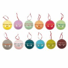 Inspirational 12 Days of Christmas Baubles