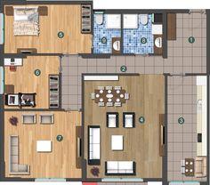 mobilya ev planı 3+1
