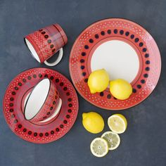 west elm offers a chic selection of dinner plates and modern dinnerware. Give any dinner table an update with these modern dinner plates. Red Dinnerware, Modern Dinnerware, Modern Dinner Plates, African Pottery, Kitchenware, Tableware, Plates And Bowls, Red Plates, Dinner Sets