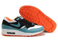 wholesale dealer d1a5a 94e16 ... order uk market nike air max 1 womens blue black white orange trainers  nike air max