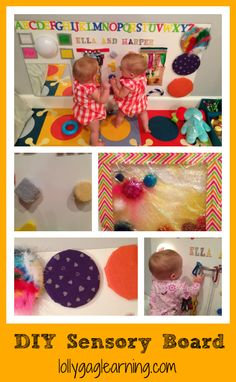 DIY sensory board for your baby, and more easy diy sensory activities. lollygaglearning.com