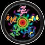 Stay psychedelic with this vibrant Grateful Dead Dancing Bears Round Tin. It's large enough to hold your secrets, and small enough to keep them!