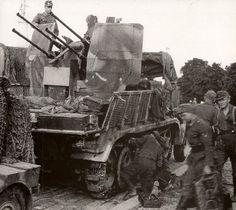 Selbstfahrlafette 2 cm Flakvierling 38 auf Fahrgestell Zugkraftwagen 8t (Sd.Kfz. 7/1)