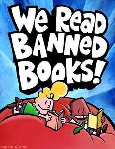 Art by Dav Pilkey for Banned Books Week