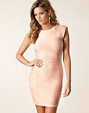 Ripple Bodycon Dress - Ax Paris - Nude - Feestjurken - Kleding - NELLY.COM