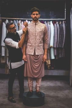 Perfect ensemble for a cocktail evening! Sherwani For Men Wedding, Wedding Dresses Men Indian, Wedding Dress Men, Mens Sherwani, Wedding Wear, Engagement Dress For Groom, Wedding Outfits For Groom, Summer Wedding Outfits, Engagement Outfits