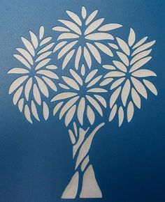 Knotty Tree Stencil by kraftkutz on Etsy