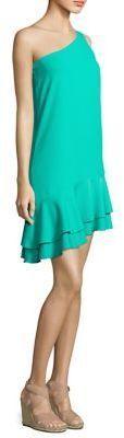 Trina Turk Lunaria Tiered One-Shoulder Dress