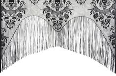 Gothic Black Lace Damask SKULL BATS CURTAIN Lamp Shade Cover Door Topper Valance Window Swag Cosplay SHAWL Costume WRAP. Sheer Steampunk Goth Mantel Border Shroud Table Edge Decor. Haunted House Halloween Party Mansion Castle Dining Room Decorations.