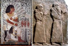 La prospettiva sul corpo umano: lo scorcio - Egizi e Assiri.