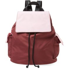 Bag Studio Women's Bicolor Medium Backpack - Red ($29) ❤ liked on Polyvore featuring bags, backpacks, red, backpack bags, draw string backpack, red drawstring backpack, drawstring backpack and red bag