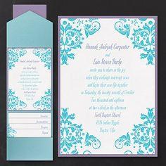 Vibrant Damask Layered Pocket Wedding Invitation 40% OFF     http://mediaplus.carlsoncraft.com/Wedding/Wedding-Invitations/3254-TWSN33577A-Vibrant-Damask--Layered-Pocket-Invitation.pro