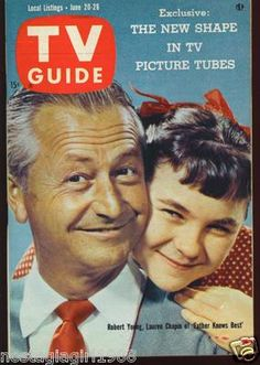 Papa a raison--Robert Young & Lauren Chapin of 'Father Knows Best', TV Guide, June Old Tv Shows, Best Tv Shows, Favorite Tv Shows, Father Knows Best, Robert Young, Old Magazines, Vintage Magazines, Vintage Television, Television Tv