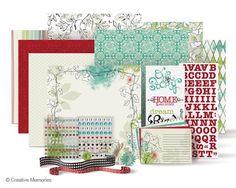 "Creative Memories ""Enchanted""Scrapbook paper large power palette system.  Sale $49.00"