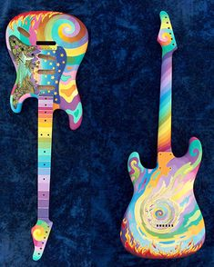 Guitar art by the Fool's Marijke Koger (also as seen in the wall murals on the beatle's Apple Boutique)